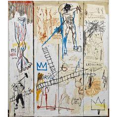 Jean-Michel Basquiat, Leonardo da Vinci's Greatest Hits, 1982. Acrylic, colored crayon, oil paintstick, and pencil on paper. Schorr Family Collection. © Artists Rights Society (ARS), New York / ADAGP, Paris / Photo Bruce M. White #Basquiat #art