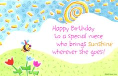 valentine Poems for My nephew | eCard Verse: Happy Birthday to a special niece who brings sunshine ...
