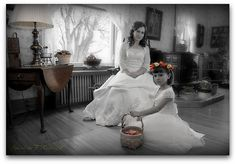 Bride And Flower Girl by Ronaldo F Cabuhat, via Flickr