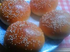 Hamburger zsemle - Tina konyhája Hamburger, Bread, Food, Brot, Essen, Baking, Burgers, Meals, Breads