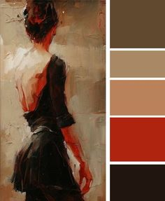 The use of all rustic elements with a nice burnt red tone make for an excellent color inspiration!