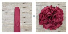 Tissue Paper Flowers - Regular Round Cut