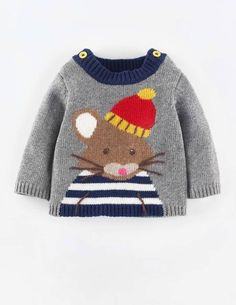 43 Ideas Baby Boy Crochet Sweater Mini Boden For 2019 Baby Boy Sweater, Knit Baby Sweaters, Boys Sweaters, Baby Cardigan, Knitting Sweaters, Intarsia Knitting, Intarsia Wood, Knitting Patterns Boys, Knitting For Kids