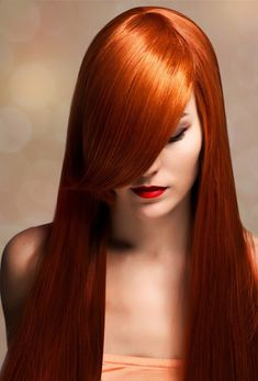 I wish my red hair was this vibrant. It used to be more so when I was younger but it has lightened up over the years. I think hers comes from a bottle though.