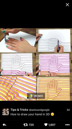 How to draw a hand in 3D
