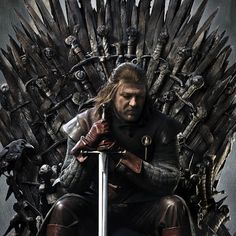 """Sean Bean as Eddard """"Ned"""" Stark - was head of House Stark, Lord of Winterfell, Lord Paramount of the North & Warden of the North. He & Catelyn Tully have five children & he has a bastard son, Jon Snow. Eddard is known for his sense of honor and justice. After Hand of the King dies, Ned is appointed to the position. After Robert is gored, he is named King. Later, Joffrey has him beheaded. May the old gods & the new welcome him into eternal peace."""