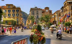 Piazza Tasso, Sorrento, Italy  ahh. take me back.