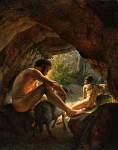 Ulysses Fleeing The Cave Of Polyphemus (Christoffer Wilhelm Eckersberg (1783 – 1853)