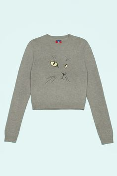 Opening Ceremony Exclusive Cat Embroidered Sweater