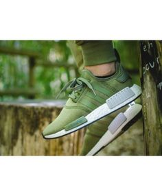 cce478a01f Adidas NMD Khaki Green Sale UK Adidas Nmd R1, Cheap Adidas Nmd, Adidas  Sneakers