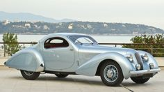 """Rare Talbot Lago T23 Teardrop Coupe goes up for auction  t's hard not to get carried away with the superlatives when writing of the art deco wheeled sculptures of Paris-based automotive couturier Giuseppe Figoni. Figoni created this exquisite 1938 Talbot-Lago T23 'Goutte d'Eau' Coupe amongst many extraordinary works of automotive art. The Talbot Lago """"teardrop"""" is not just a pretty face - an almost identical car finished third in the 1938 Le Mans 24 hour race ... and it's for sale."""