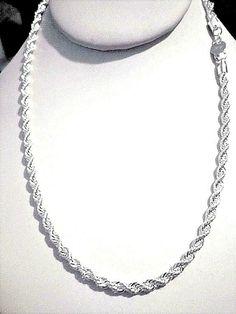 "4MM 925 Sterling Silver CUBAN LINK Necklace Chain 16/"" inch Men Women"
