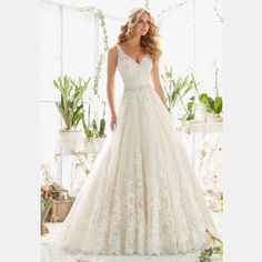 Berydress 2016 Distinctive Ivory Beading Bridal Vestidos Full Appliques A line Dress Wedding Gown V neck and V back-in Wedding Dresses from Weddings & Events on Aliexpress.com | Alibaba Group