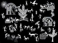 Warli - Art from India depicting everyday's life
