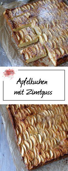 Apfelkuchen mit Zimtguss | Rezept | Backen | Kuchen | Blechkuchen