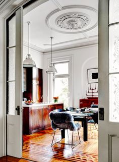 Classic dining space with modern accents