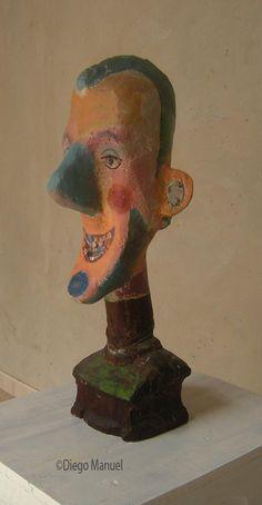 """Vieja estrella de Rock and Roll"" , madera policromada, Diego Manuel Rodriguez"