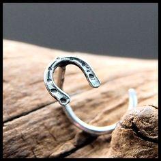 Sterling Silver Fancy Ball Nez Bijoux Mince Hoop Ring 22 Gauge 22 g 9 mm