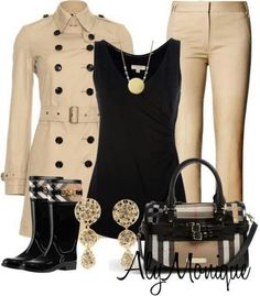 Rainy Day Outfit This would make a great rainy day outfit! This would make a great rainy day outfit! Autumn Fashion Women Fall Outfits, Fall Winter Outfits, Autumn Winter Fashion, Womens Fashion, Fashion Trends, Outfit Elegantes, Estilo Rock, Mode Jeans, Fashion Looks