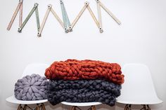 Giant knitted Merino wool blanket from BeCozi- great gift for yourself or your loved one!