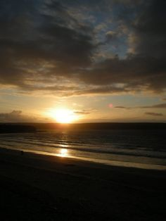 Sunset in Thurso, Scotland