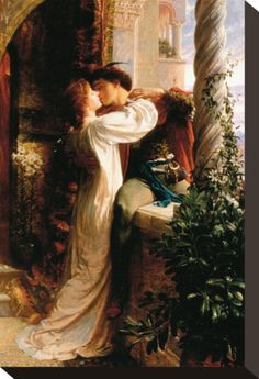 And Juliet Painting by Sir Frank Dicksee - Romeo And Juliet Fine Art Prints and Posters for Sale Frank Dicksee, Classic Paintings, Old Paintings, Beautiful Paintings, Romantic Paintings, Renaissance Kunst, Renaissance Paintings, Rennaissance Art, Victorian Art