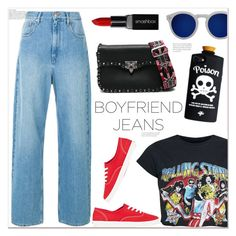 """ootd: boyfriend jeans"" by mycherryblossom ❤ liked on Polyvore featuring Keds, Illesteva, Valentino, Smashbox, ootd, boyfriendjeans, polyvoreeditorial and polyvorestyle"
