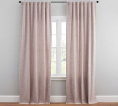 As part of our best-selling curtain collection, there are so many reasons to love the Emery Linen/Cotton Pole-Pocket Blackout Curtain. With a soft, luxurious drape, it brings both casual warmth and refined style to the room. Bed Drapes, Sheer Linen Curtains, Drapes And Blinds, Printed Curtains, Silk Drapes, Window Drapes, Living Room Decor Curtains, Home Curtains, Nature