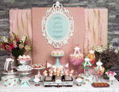 Shabby Chic Bridal Shower -- candy bar, candy buffet