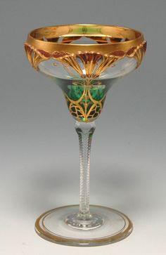 Wonderful Art Nouveau Wine Goblet.