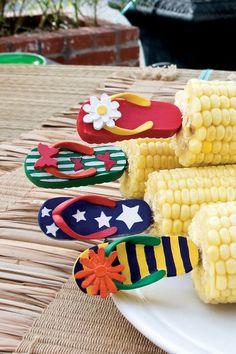 Flip Flops Corn Holders - Set of 4 on HauteLook
