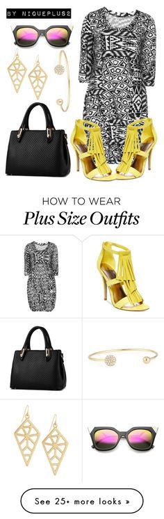 """""""+Look  (Plus Size Look): Pop of Yellow"""" by niqueplus on Polyvore featuring Twister, Madden Girl, Panacea, Jules Smith, women's clothing, women, female, woman, misses and juniors"""