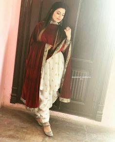 Slight colour variation may be there due to digital view. Patiala Dress, Punjabi Dress, Patiala Salwar Suits, Wedding Salwar Kameez, Indian Salwar Kameez, Dress Indian Style, Indian Dresses, Indian Clothes, Indian Attire