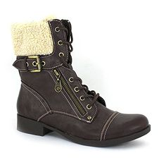 G by GUESS Womens Berla FauxFur Combat Booties ** Check out the image by visiting the link.(This is an Amazon affiliate link and I receive a commission for the sales)