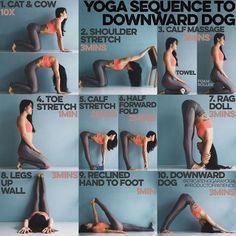 yoga sequence to downward dog #yogasequences