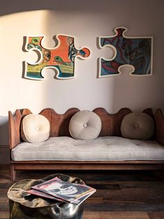 Pierre Yovanovitch's château in the south of France | House & Garden Banquettes, Tree Trunk Table, Pierre Yovanovitch, Big Cushions, Sofa And Chair Company, Elegant Sofa, Sofa Inspiration, Colourful Living Room, Best Sofa