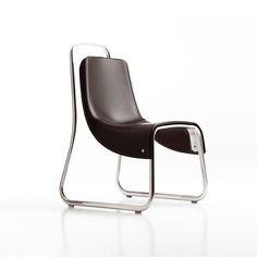 Jeff Miller for Cerruti Baleri – Littlebig Modern Chair with upholstered leather seat