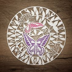 Butterfly papercut - Handdrawn and hand cut by me. Louise Bell Art