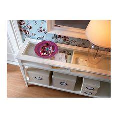 LIATORP Ablagetisch - weiß/Glas - IKEA