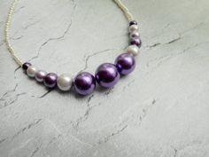 Homemade purple necklace / ladies jewelery by Liesbeth Visscher at JHFWBeadsAndFindings on #Etsy