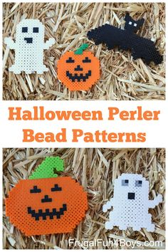 Halloween Perler Bead Patterns to Make - We love this simple kid's craft!