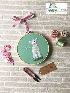 Lamb Gift Embroidery Hoop Medium Hoop Home Decor Spring