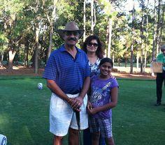 Nitesh Patel en la foto con su familia