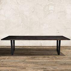 """Nobelle 80"""" Dining Table with Hardyn Base in Black :: Arhaus :: $1599"""
