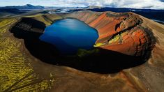 Volcanic Crater Lake in the Arctic