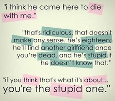 Peter is stupid for not seeing how deep Tris and Tobias's love is!