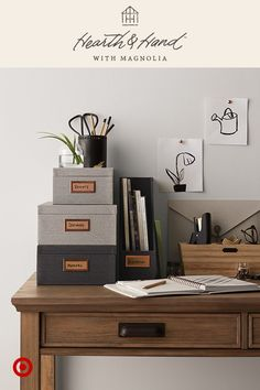 Stylish office storage keeps everything out of sight so you can focus on the task at hand. Hearth & Hand™ with Magnolia, only at Target.