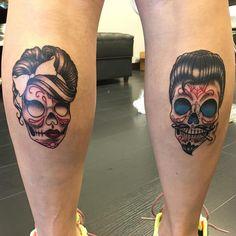 best sugar skull tattoo - designs & meaning - tattoo ideas - best sugar skull tattoo – designs & meaning - Bad Tattoos, Great Tattoos, Body Art Tattoos, Girl Tattoos, Small Tattoos, Tattoo Art, Tattos, Skull Couple Tattoo, Sugar Skull Girl Tattoo