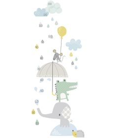 Smile, It's Raining - Meetlat bij www. Nursery Wall Art, Girl Nursery, Nursery Decor, Painting For Kids, Art For Kids, Elephant Illustration, Nursery Pictures, Baby Journal, Class Design