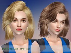 Sims 4 CC's - The Best: Donation Hair by Butterflysims